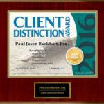 Firm receives 2016 Client Distinction Award